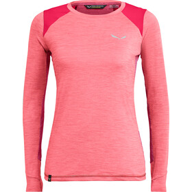 SALEWA Pedroc Hybrid Dry Langarm T-Shirt Damen strawberry melange
